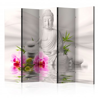 Pertvara  Buddha and Orchids II [Room Dividers]