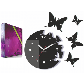 "Wall Clock ""Flying butterflies with dial"""