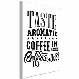 Paveikslas - Taste Aromatic Coffee in Our Coffee House (1 Part) Vertical