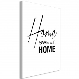 Paveikslas - Black and White: Home Sweet Home (1 Part) Vertical