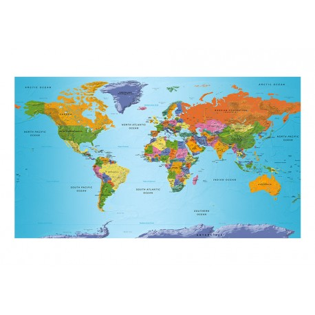 Images Of A World Map.Fototapetas Xxl World Map Colourful Geography Ii Deco Detalės